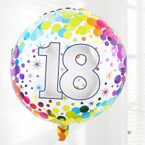 18th Birthday Balloon Code:JGFB265218BB  | Local Delivery Or Collect From Shop Only