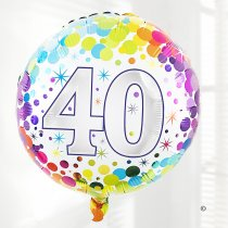 40th Birthday Balloon Code:C02841ZF  | Local Delivery Or Collect From Shop Only