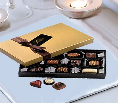 40th Birthday Germini Perfect Gift Vase With A Luxury Box Of Chocolates And Happy