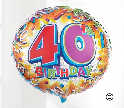 40th Birthday Germini Perfect Gift With A Fun Happy Day Balloon Code JGF11033PGB