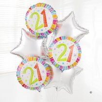 21st Birthday Balloon Bouquet  Code: C02811ZF