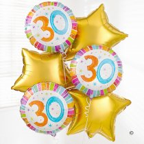 30th Birthday Balloon Bouquet  Code: B300830