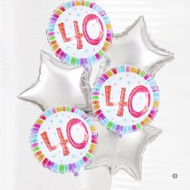 40th Birthday Balloon Bouquet Code: C02851ZF