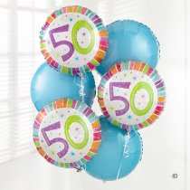 50th Birthday Balloon Bouquet  Code: B301050