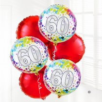 60th Birthday Balloon Bouquet  Code: B301160