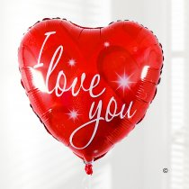 I Love You Helium Red Balloon Heart Code: V40751ZF