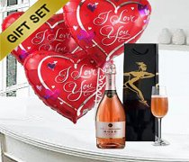 Hearts & Fizz  Sparkling Ros� Wine with Love Balloons Code: C02511ZS