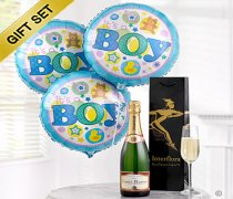 Baby Boy Celebratory Champagne with Baby Boy Balloons Code: B10110ZS