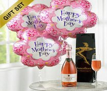 Mother's Day Celebration Sparkling Rosé Wine Flower Balloon Gift Set  Code: JGFM50240ZS Local Delivery Only