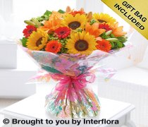 Large Seasonal Splendour Sunflower and Lily Hand-tied Hand-tied Code: H63092MS