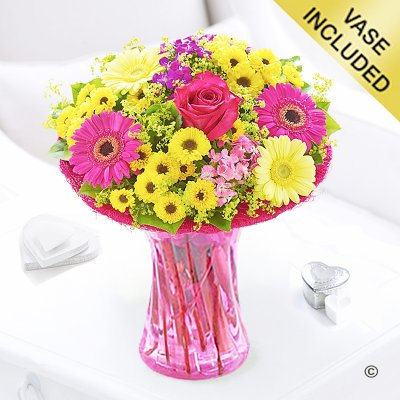 Summer Vibrant Vase Code: JGFS90889SS | Local Delivery Or Collect From Shop Only