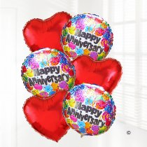 Happy anniversary balloon bouquet party JGFA9HABBP | Local Delivery Or Collect From Shop Only