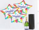 Congratulations Balloons with a delicious bubbly Champagne Code: JGF2048CBC